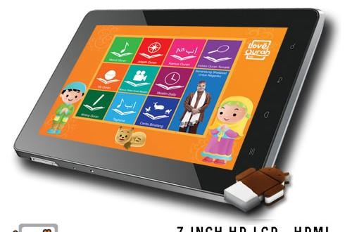 Love Quran Tab 3G TV, Tablet Untuk Permudah belajar Al-Quran