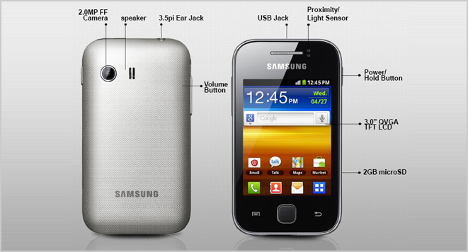 Review Smartphone Samsung Galaxy Y S5360_2