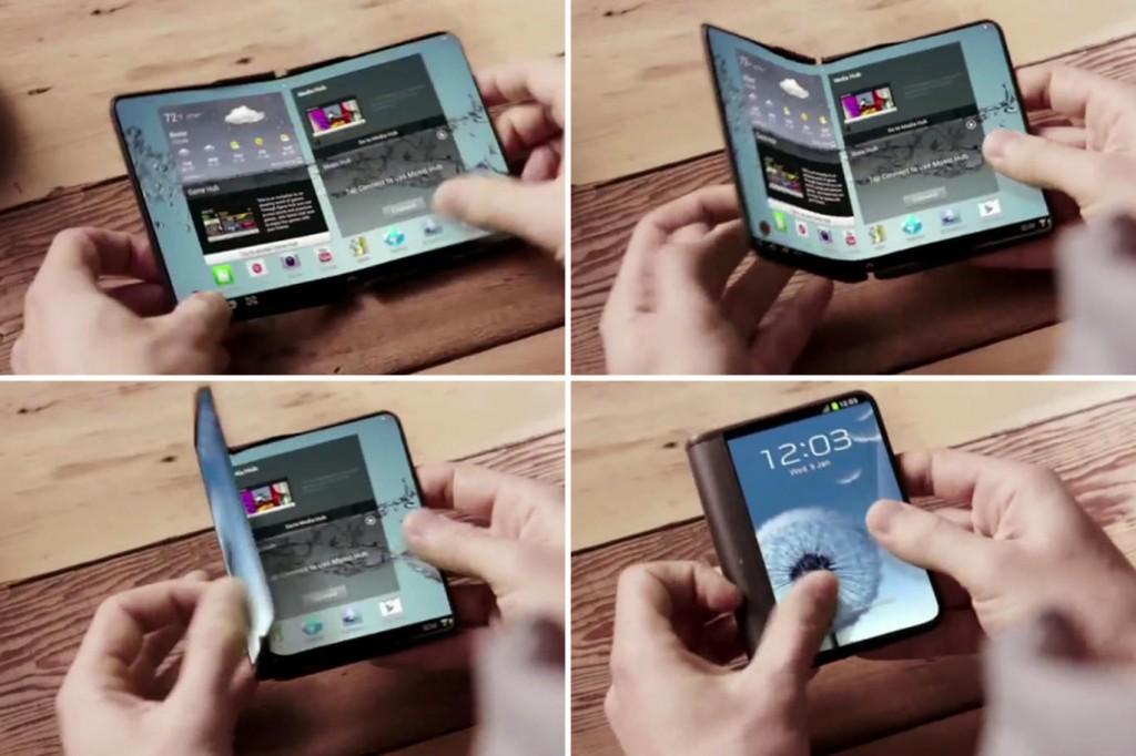 Samsung Smartphone Screen Fold in 2016