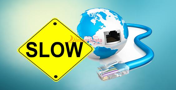 Koneksi internet kurang stabil