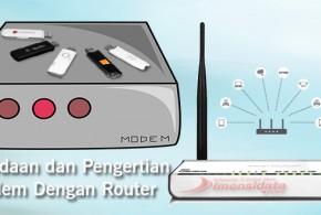 Router dengan Modem