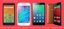 HP Android 2 Jutaan Spesifikasi Terbaik