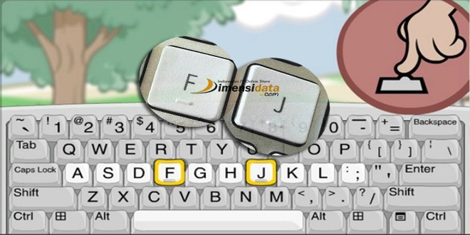 Rahasia Tonjolan Pada Huruf F dan J di Keyboard