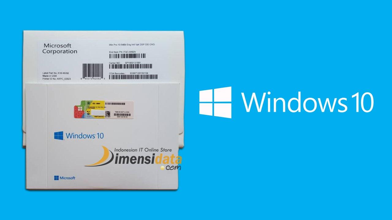 Harga Windows 10 Pro Original Dan Home 32 64 Bit Terbaru 7 Professional Full Pack Oem Bergaransi