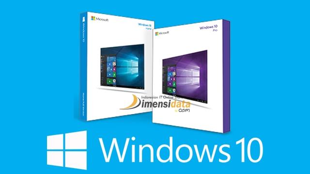 Harga Windows 10 Pro Original dan Windows 10 Home di DimensiData
