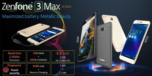 Kelebihan Kekurangan Spesifikasi Asus ZenFone 3 Max (ZC520TL)