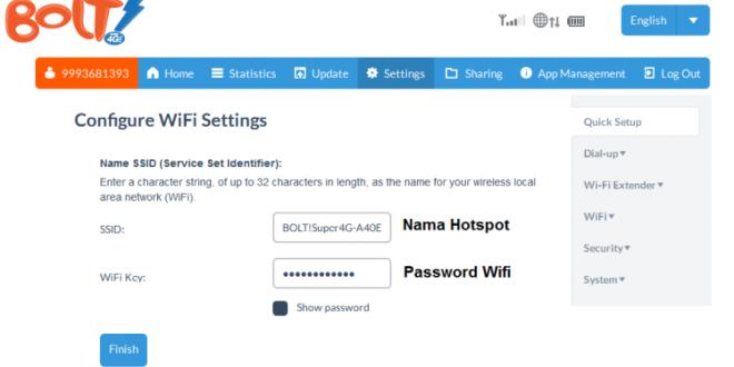 Cara Ganti Nama WiFi dan Password Modem Bolt
