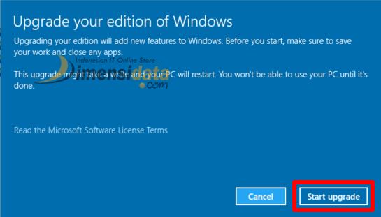Cara Upgrade Windows 10 Home ke Windows 10 Pro 4