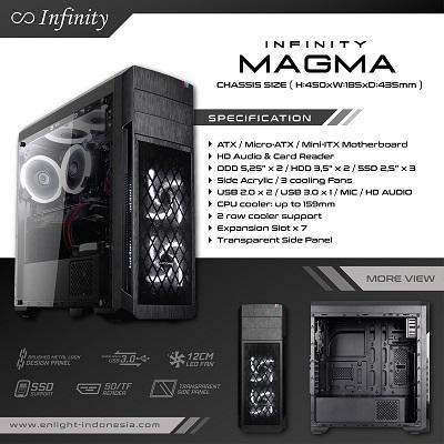 Casing PC Gaming Terbaik Infinity Magma ATX