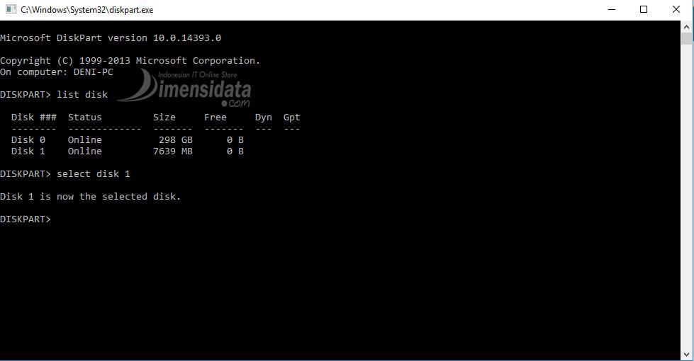 Gambar 2, Cara Membuat Bootable Flashdisk Windows 7, 8 dan 10