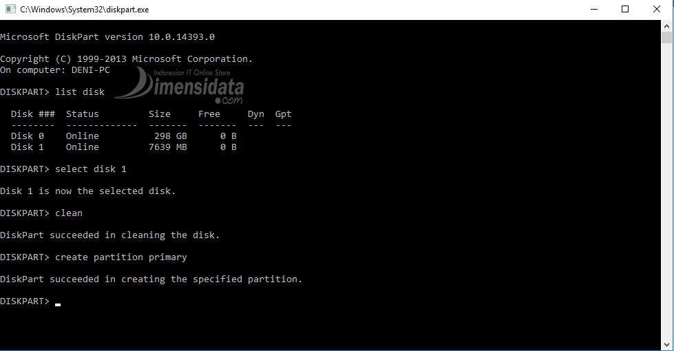 Gambar 4, Cara Membuat Bootable Flashdisk Windows 7, 8 dan 10
