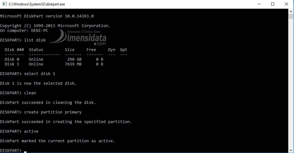 Gambar 5, Cara Membuat Bootable Flashdisk Windows 7, 8 dan 10