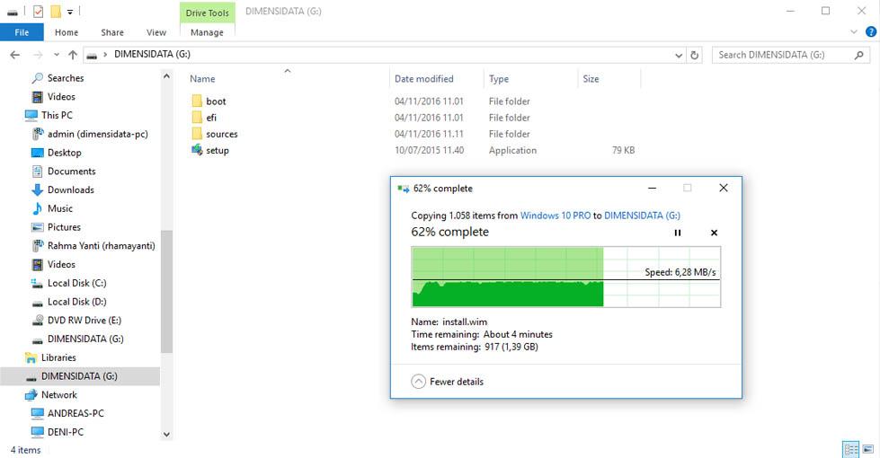 Gambar 9, Cara Membuat Installer Bootable Flashdisk Windows 7, 8, 10