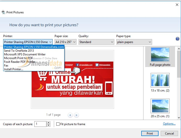 Gambar Cara Sharing Printer di Windows 10 8 7