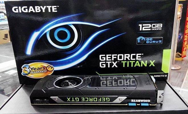 Gigabyte Nvidia GeForce GTX Titan X