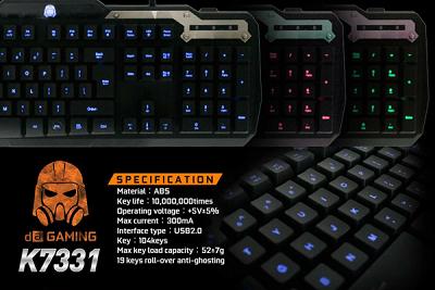Harga Digital Alliance LED K7331 Gaming Keyboard Murah