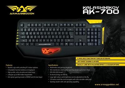 Harga Keyboard Gaming LED Terbaik Armaggeddon AK-700 Murah