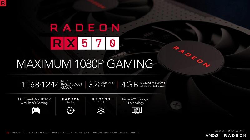 Harga dan Spesifikasi VGA AMD Radeon RX 570