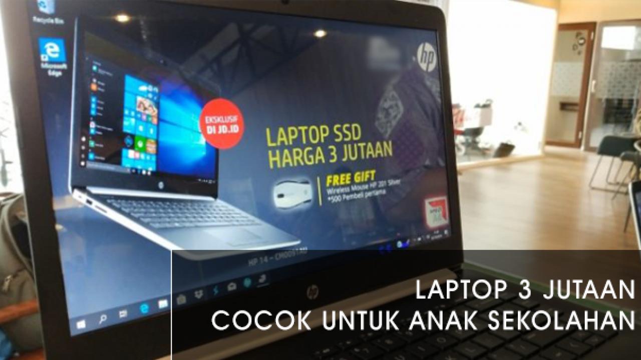 Laptop Hp 14 Cm0091au Harga Terjangkau Dengan Ssd M 2 128 Gb