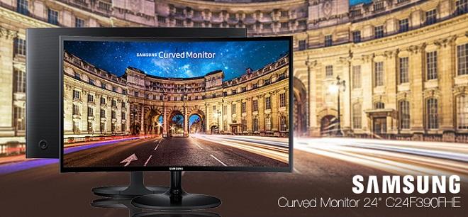 Monitor Gaming Terbaik Sasmung Curved C24F390FHE Harga Murah