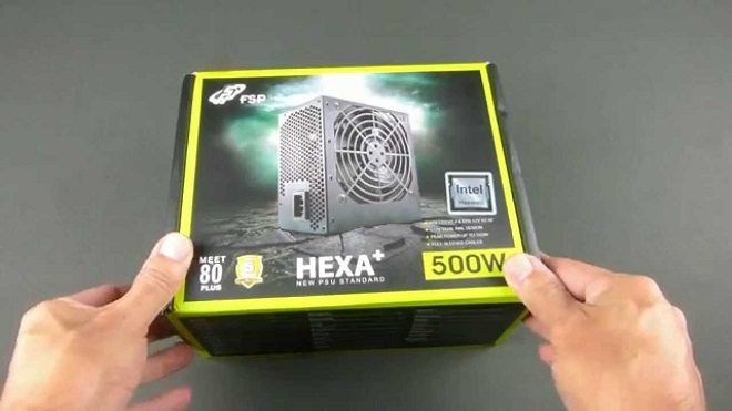 PC Gaming Power Supply 80+ Terbaik FSP Hexa+ 500w