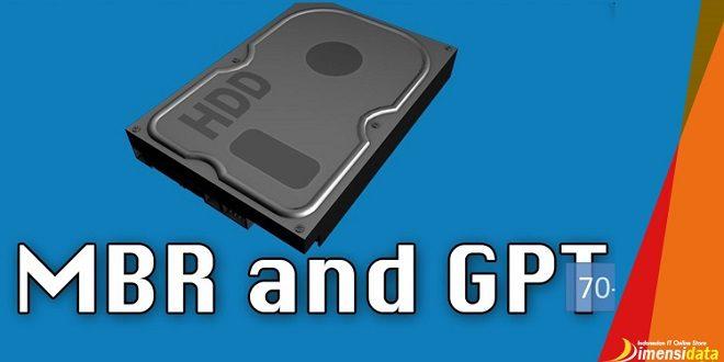 Perbedaan Partisi MBR Dan GPT Serta Pengertiannya