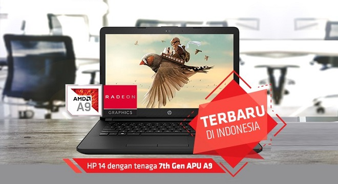 Spesifikasi Laptop Gaming HP 14-bw001AX APU A9