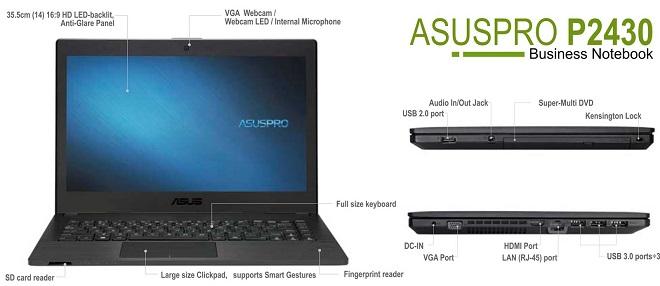 Spesifikasi dan Harga Laptop ASUSPRO P2430UA i3 Terbaru