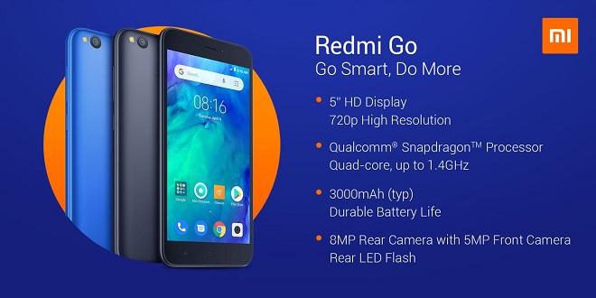 Spesifikasi dan Harga Xiaomi Redmi Go 2019