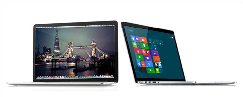 Pilih Mana Macbook Pro Retina Display atau Laptop Windows 8 dengan Touchscreen ?